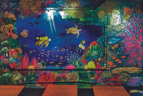 Blue Sea Mural at Angel Cafe, 2018
