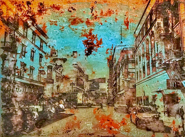 Golden Age of Tenderloin - Clay and acry