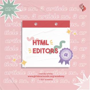 #3: HTML Editors