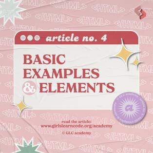 #4: Basic Examples & Elements