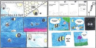 Student-created comics documenting predictions about bee behaviour during the eclipse