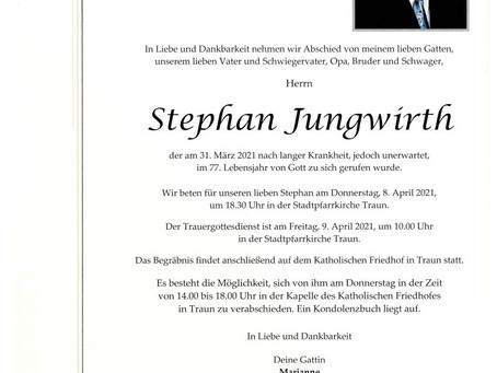 R.I.P Stephan Jungwirth