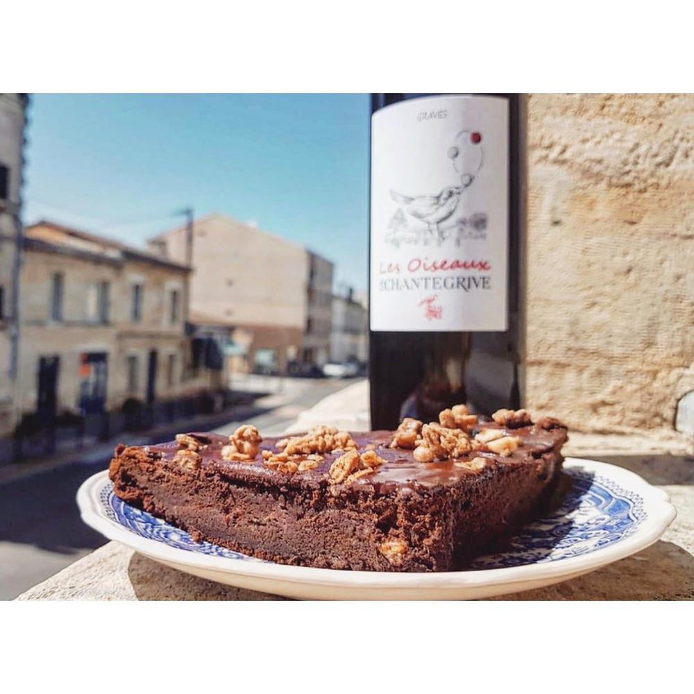 Gâteau au chocolat vin rouge