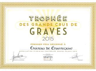 Chantegrive Blanc 2014 et Chantegrive Rouge 2012, lauréats du Trophée des Grands Crus de Graves