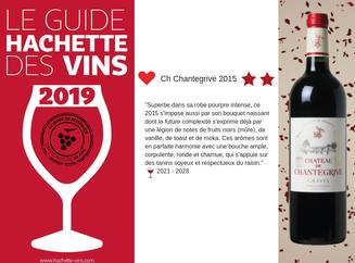 Coup de coeur et deux étoiles au Guide Hachette des vins 2019 !