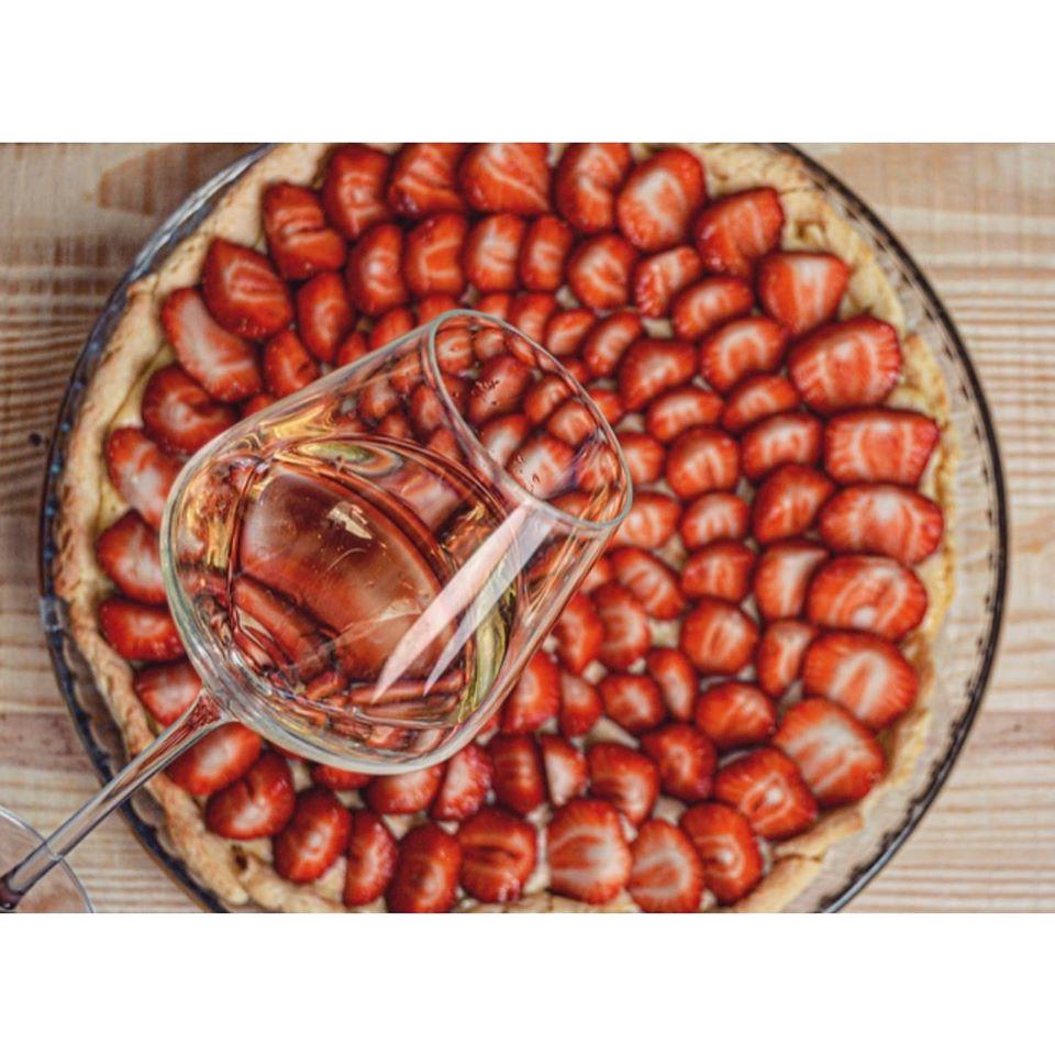 Tarte aux fraises Cuvée Caroline Chantegrive Graves