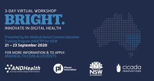 👨🏫 Event: BRIGHT - Innovate in Digital Health NSW 💡