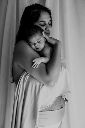 Ensaio bebê pele a pele