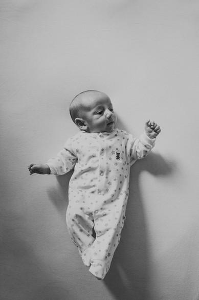 Fotografia bebê em casa