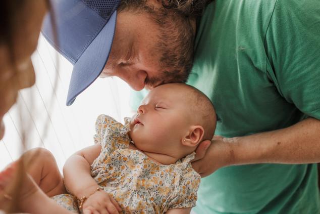 Ensaio bebê lifestyle em casa