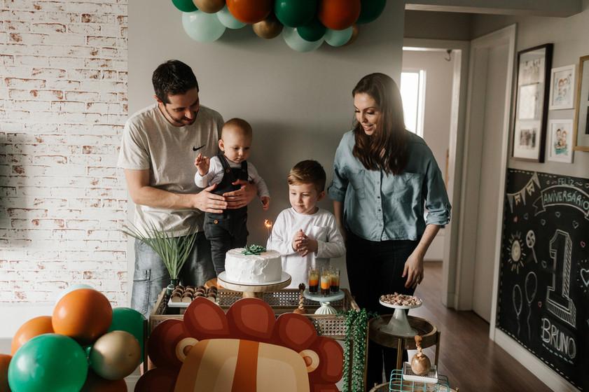 Festa de aniversário em casa - Babuska Fotografia