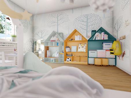 Organizarea funcţională a camerei copilului.