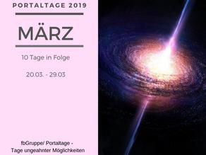 Portaltage im März 2019
