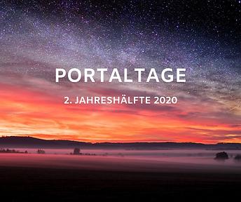 Portaltage 2020 2.Jahreshälfte