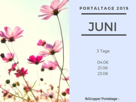 Portaltage im Juni 2019