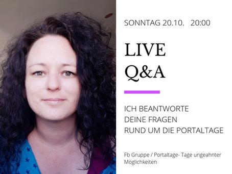 live q&A, sonntag 20.10.2019