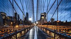 Brooklyn Bridge Morning Rain 5am