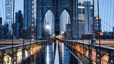 Brooklyn Bridge Morning Rain 5:30am