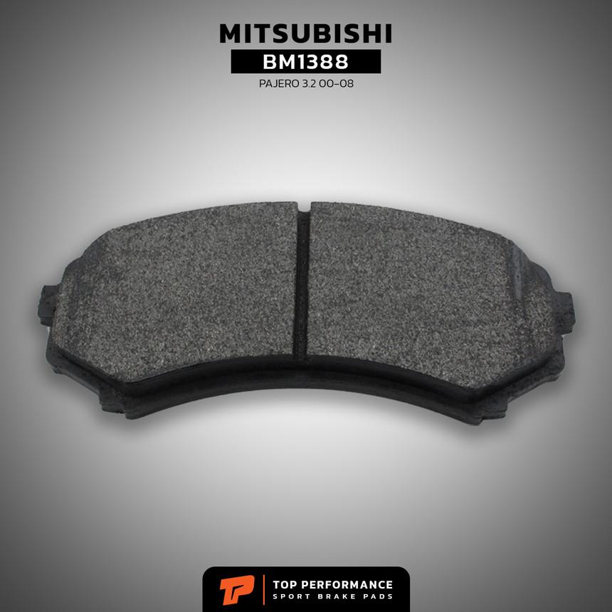 ผ้าเบรค หน้า BM 1388 - MITSUBISHI PAJERO - TOP PERFORMANCE JAPAN - ผ้าเบรก มิตซูบิชิ ปาเจโร่ โชกุน / MR510539 / DB1388