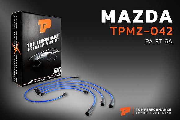 สายหัวเทียน TPMZ-042 - MAZDA M1400 / MT RA 3T 6A - TOP PERFORMANCE JAPAN - มาสด้า