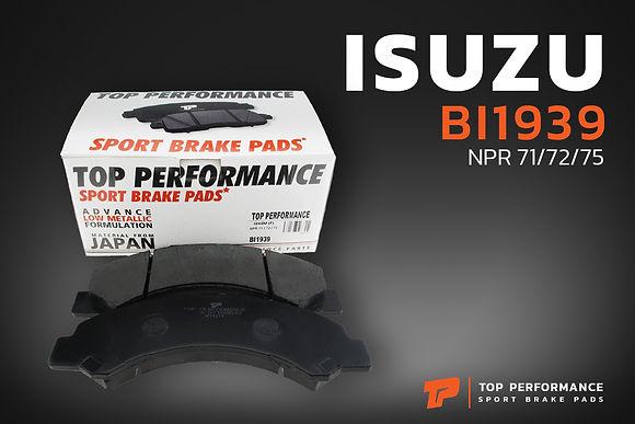 ผ้าเบรค หน้า BI 1939 - ISUZU ELF NKR / NPR 71 / 72 / 75 - TOP PERFORMANCE JAPAN - ผ้าเบรก อีซูซุ / 897168633 / DB1939