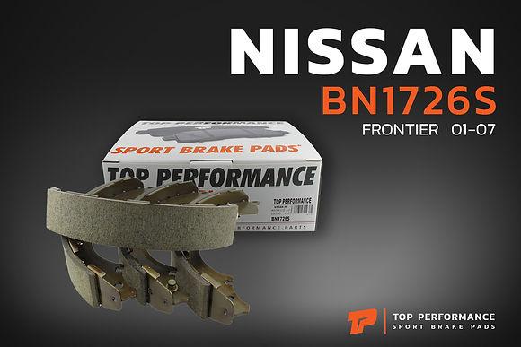 ก้ามเบรค หลัง BN 1726S - NISSAN FRONTIER D22 - TOP PERFORMANCE JAPAN - ก้ามเบรกหลัง นิสสัน ฟรอนเทียร์ BS1726