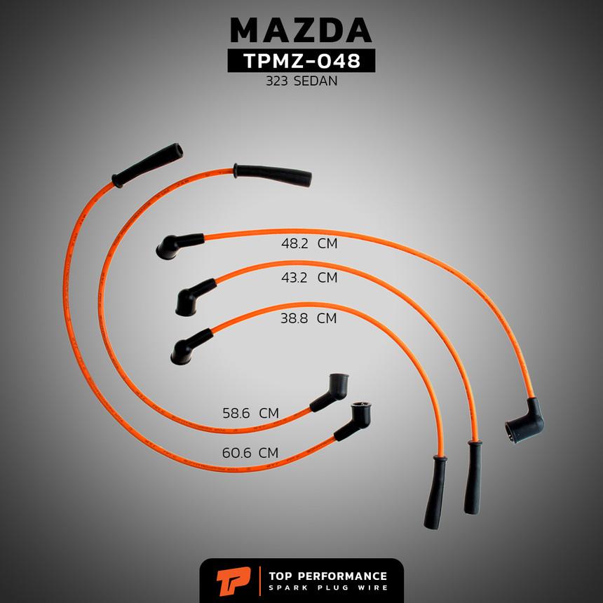 สายหัวเทียน TPMZ-048 - MAZDA 323 SEDAN 1.6 / B6 - TOP PERFORMANCE JAPAN - มาสด้า ซีดาน
