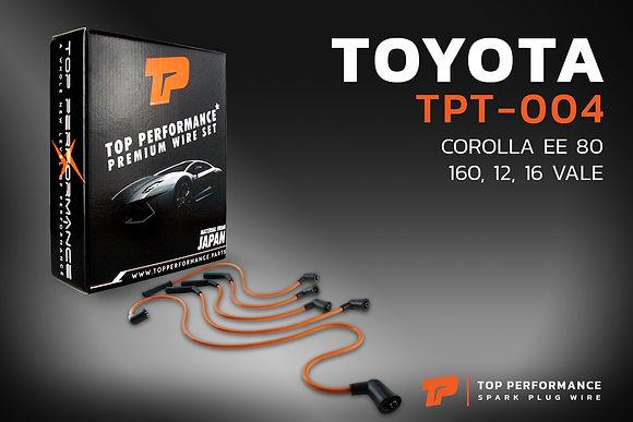 สายหัวเทียน TPT-004 - TOYOTA 2E COROLLA EE80 12 VALVE / 16 VALVE - TOP PERFORMANCE MADE IN JAPAN - โตโยต้า โคโรลล่า