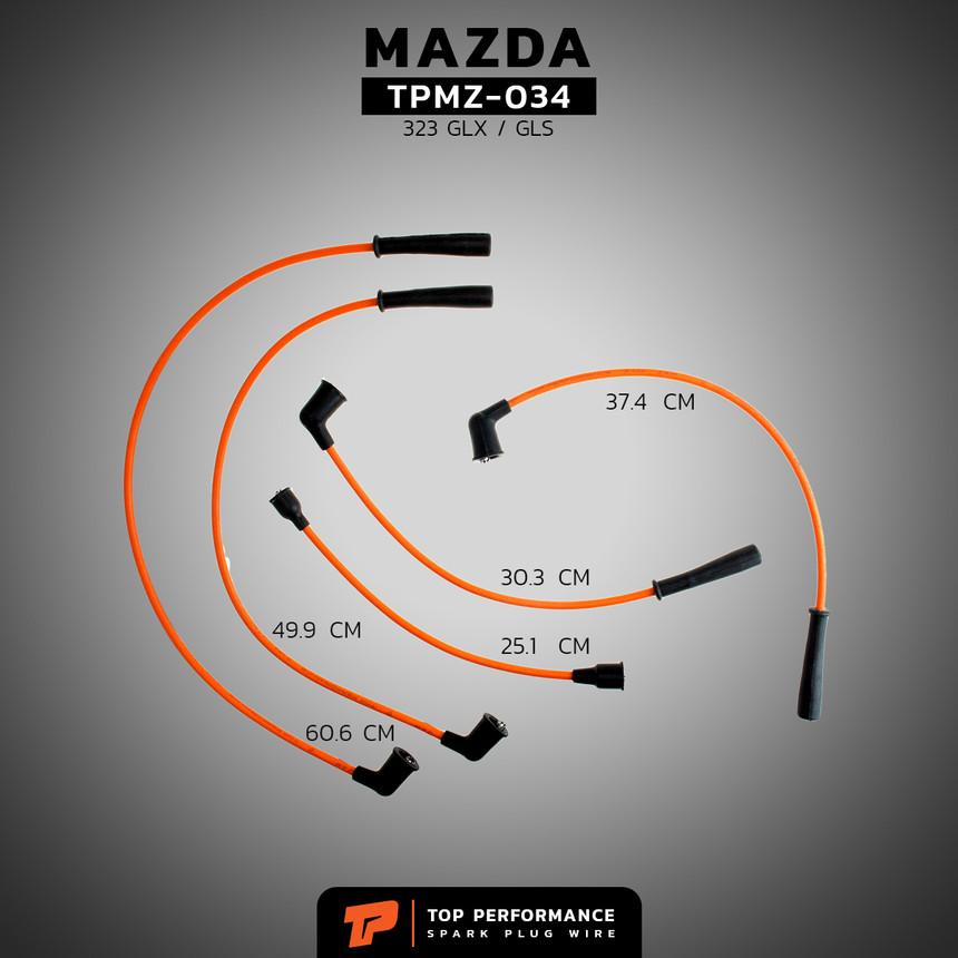 สายหัวเทียน TPMZ-034 - MAZDA 323 GLX / GLS / E5 - TOP PERFORMANCE MADE IN JAPAN - มาสด้า
