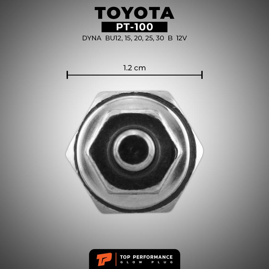 หัวเผา PT-100 - TOYOTA DYNA BU BJ JY / 2J B / (8.5V) 12V - TOP PERFORMANCE JAPAN - โตโยต้า รถบรรทุก รถตู้ ไดน่า / 19850-56021