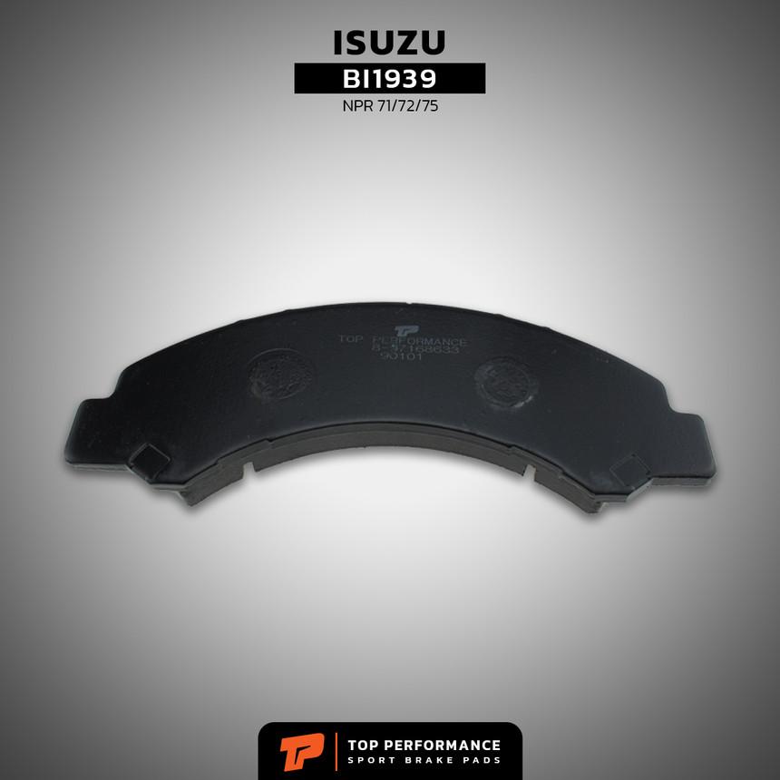 ผ้าเบรค หน้า BI1939 - ISUZU ELF NKR / NPR 71 / 72 / 75 - TOP PERFORMANCE JAPAN - ผ้าเบรก อีซูซุ / 897168633 / DB1939