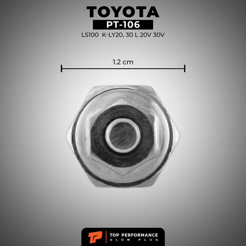 หัวเผา PT-106 - TOYOTA LS100 LN K-LY20 30 / L / (11V) 12V - TOP PERFORMANCE JAPAN - โตโยต้า 19850-54010