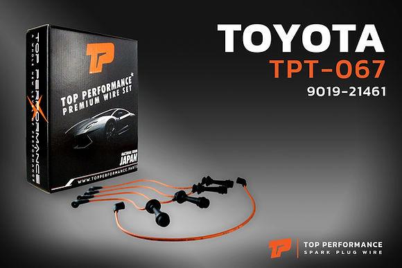 สายหัวเทียน TPT-067 - TOYOTA COROLLA 4AGE ปลั๊กกลม แกนสั้น - TOP PERFORMANCE MADE IN JAPAN - โตโยต้า โคโรลล่า 90919-21461