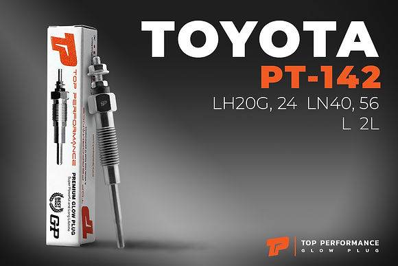 หัวเผา PT-142 - TOYOTA HIACE LH20 24 / HILUX LN40 / TOYOACE / L 2L / (16V) 24V - TOP PERFORMANCE JAPAN - โตโยต้า 19850-54060