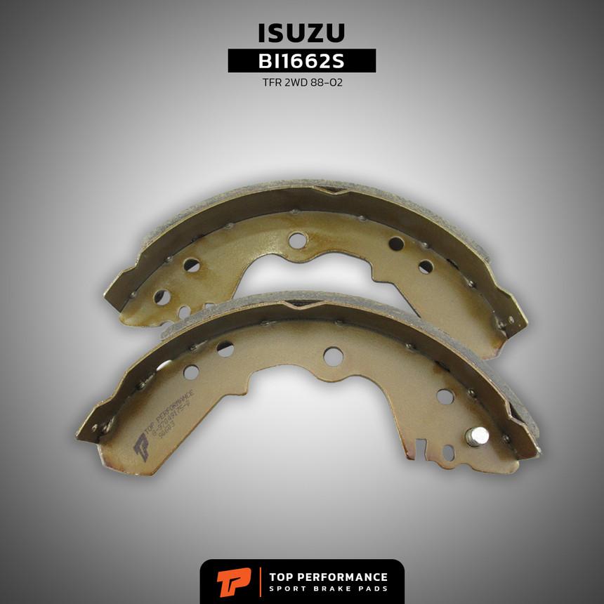 ก้ามเบรค หลัง BI 1662S - ISUZU TFR 2WD DRAGON EYE - TOP PERFORMANCE JAPAN - ผ้าเบรค ดรัมเบรค อีซูซุ มังกรทอง / 8-97049175-0 / BS1662