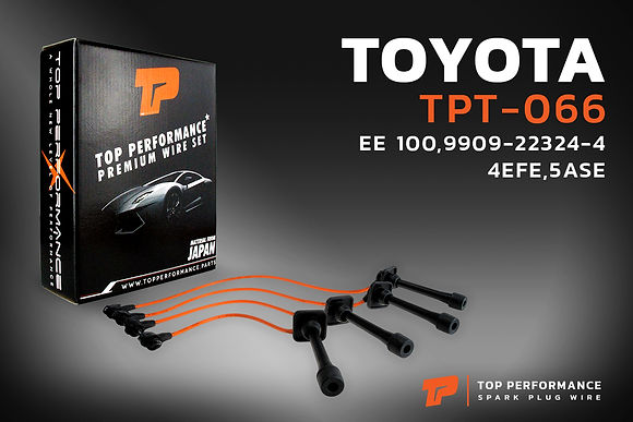 สายหัวเทียน TPT-066 - TOYOTA COROLLA EE101 / 4EFE / 5EFE - TOP PERFORMANCE JAPAN - โตโยต้า โคโรลล่า 90919-22324