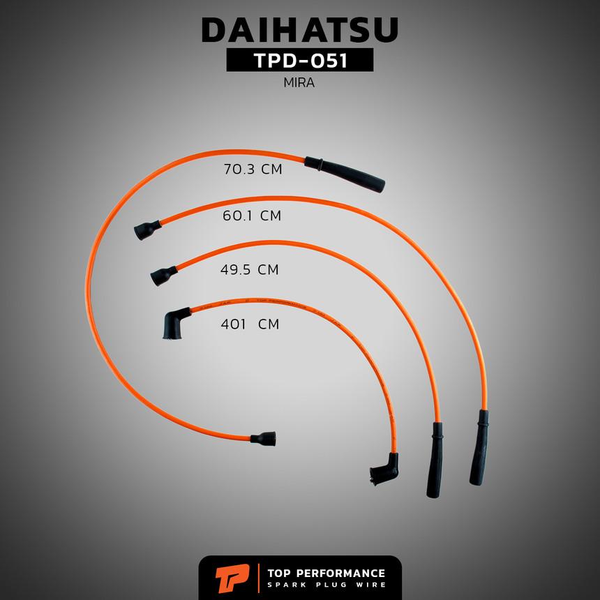 สายหัวเทียน TPD-051 - DAIHATSU MIRA L70 EB10-50 / MIRA L80 ED10-20 / MIRA L500 EF - TOP PERFORMANCE MADE IN JAPAN - ไดฮัทสุ มิร่า