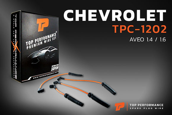 สายหัวเทียน TPC-1202 - CHEVROLET AVEO 1.4 / 1.6 - TOP PERFORMANCE MADE IN JAPAN - เชฟโรเลต อาวีโอ