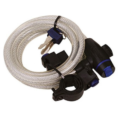 Oxford Clear Cable Lock 1.8m x 12mm OF247