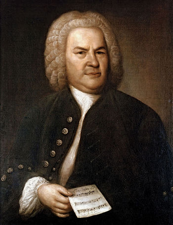 Painted portrait of Johann Sebastian Bach