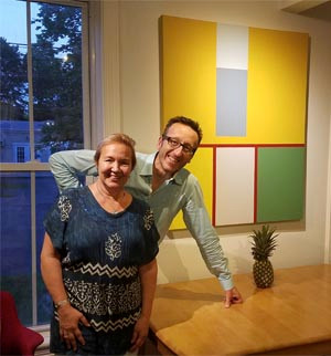 Sevan Melikyan and Maria Guralnik in the Wired Gallery in High Falls, NY