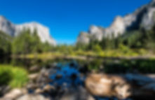 Merced River which flows through Yosemite National Park