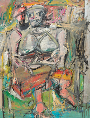 5. Willem de Kooning - Woman I (MoMA, Ne