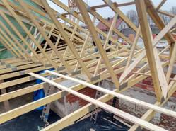 Neubau einer Halle mit Nagelbindern