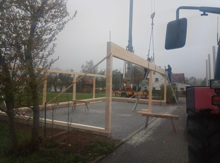 Neubau eines Carports
