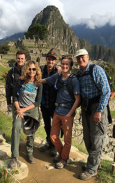 Dr. Tina-Lise Curtis with her family in Peru