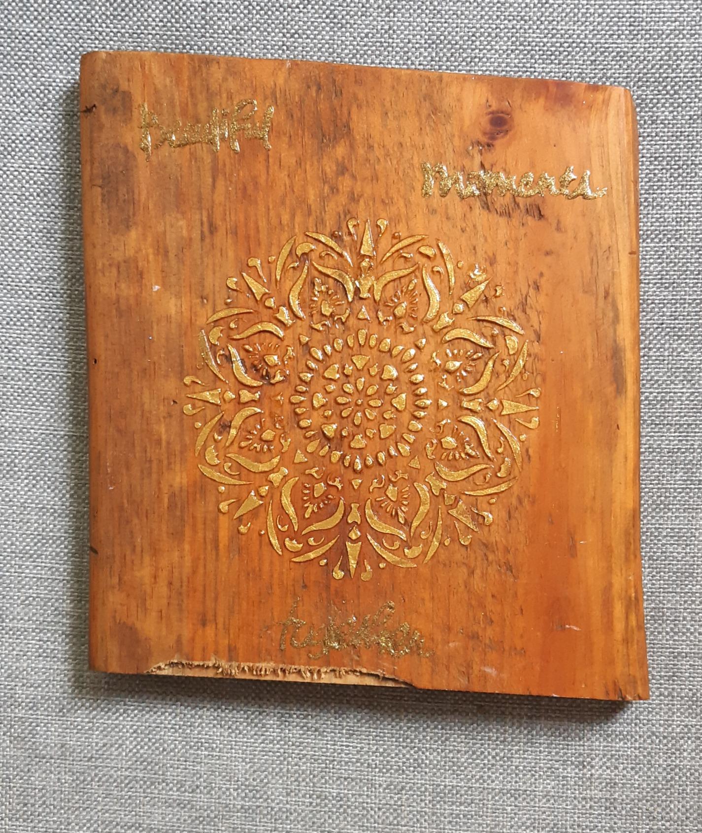 Mandala on wood