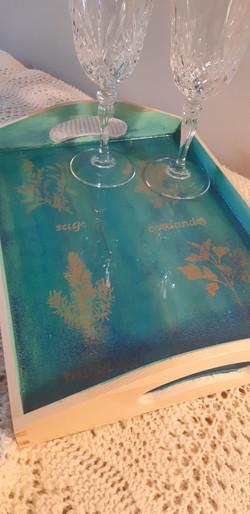 small serving tray - acrylic stencil