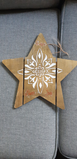 acrylic on untreated wood
