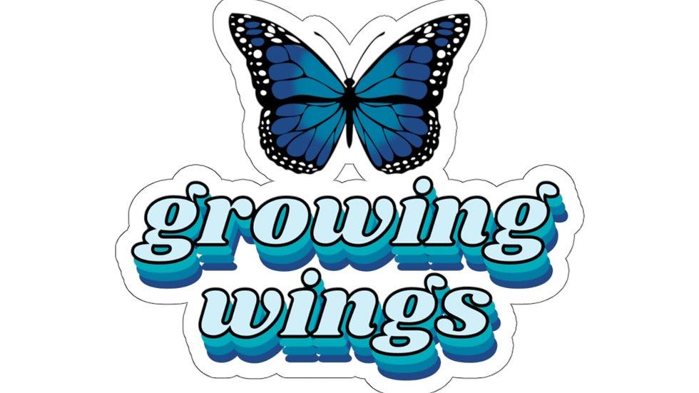 Growing Wings Vinyl Sticker